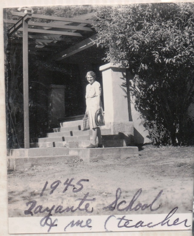 Marjorie Wright, Zayante School 1945. Courtesy of Patsy Wright Collection.