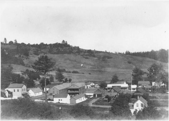 Felton 1890's. Foreground now Gushee St. Courtesy of MAH.