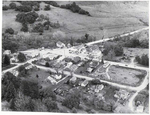 1946 Aerial view of Felton. Courtesy of Felton Fire District.