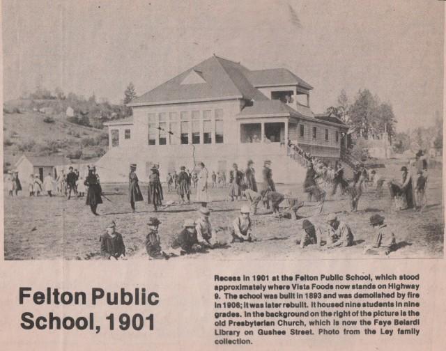 Wonderful 1901 Photo of the old Felton School on Hwy 9.