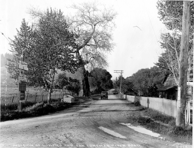 What's now Zayante Rd at Graham Hill Rd? Circa 1920's.