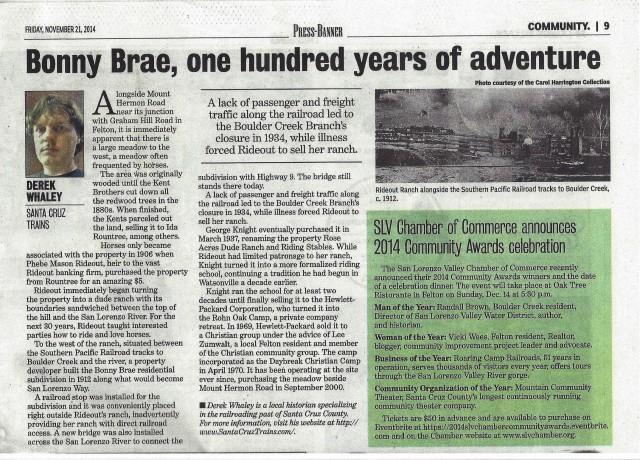 Press Banner article by Derek Whaley.