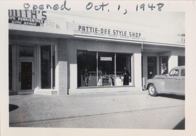1948 Pattie Dee (Klein's) Style Shop. Hwy 9, south Felton.