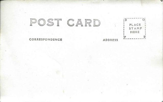Back of Sycamore Grove Resort Camp postcard.