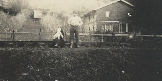 Photo of Rideout Ranch circa 1912. Courtesy of Carol Harrington. Note railroad tracks.