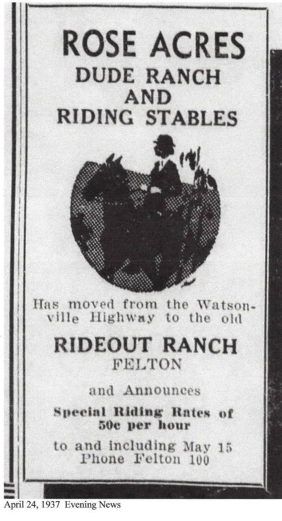 1937 Rideout Ranch ad Courtesy Randall Brown.